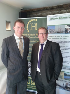 Maldon Business Lunch Pictured Paul and Carl